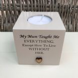 Shabby Personalised Chic Candle In Memory of a Loved one Mum Nanna Nana Dad etc - 232732882922